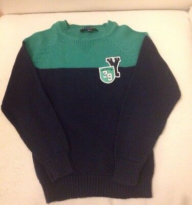 Great Boys Navy And Green Jumper Age 8 VGC By YCC Collection