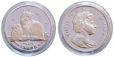 2013 Isle of Man 1-oz Proof Silver Siberian Cats - FREE Shipping!