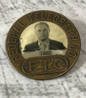 Federal Telegraph Co. FTC Picture Badge Pin Back