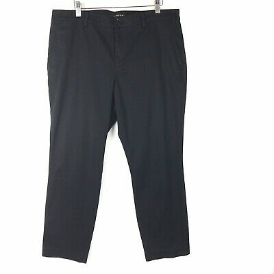 Lauren Ralph Lauren Pants Size 12 Women Straight Leg Work Business Black Stretch