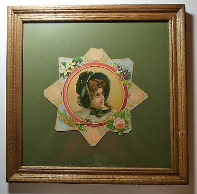 Vintage early 1900's Columbiana Ohio H.H. Smith victorian cardboard die cut sign