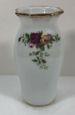 "Royal Albert Old Country Roses Mini Small Vase 4.5"" Tall"