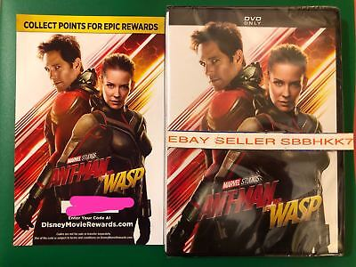 Ant-Man and the Wasp DVD {{AUTHENTIC WITH DISNEY REWARDS READ}} New Free Shiping