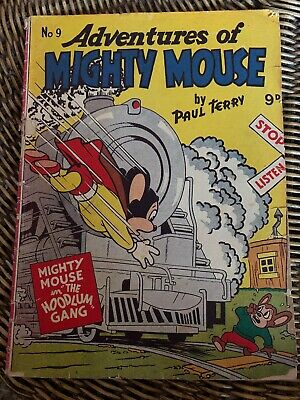 Australian: Mighty Mouse Comic, No 9  good condition !!