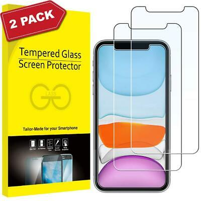 Tempered Glass Screen Protector for iPhone 11 Pro Max XS XR XS X Twin Pack