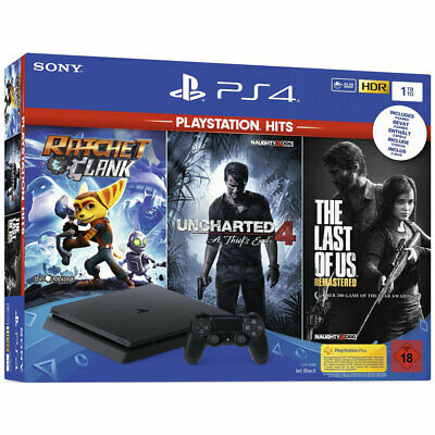 SONY PLAYSTATION 4 PS4 1TB SLIM Uncharted+Zero Dawn+The Last Of Us