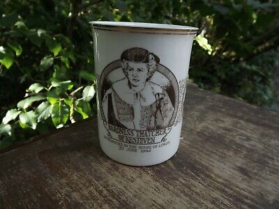 1992 Margaret Thatcher Introduced to House of Lords brown China mug Limited Ed