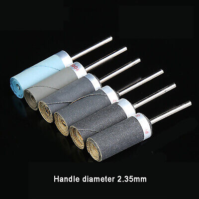 2.35mm Handle Sand Stick Sanding Bands Sleeves 240#~ 5000# Grit + Rotary Mandrel