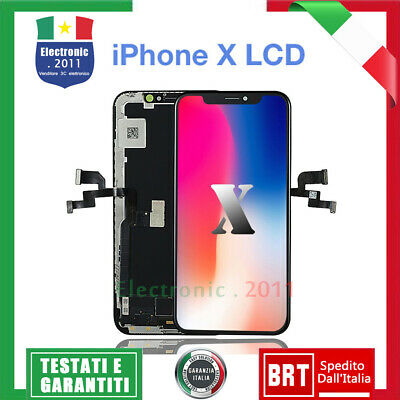 DISPLAY OLED LCD Schermo per iPhone X 10 TOP Qualita' TIANMA Touch Screen NERO