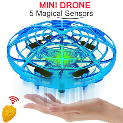 Mini Drone Quad Induction Levitation UFO Hand Operated Helicopter For Kids C0V3