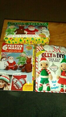 festive friends and olly & ivy knit kits plus magazine