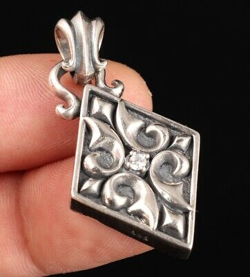 Rare Chinese 925 Silver Real Silver Pendant Statue Exorcism Mascot Collec Old
