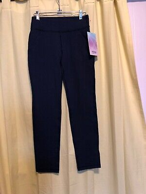 New w/tag Ivivva By Lululemon Girls Size 12 Straight Forward Pant Navy Blue $64
