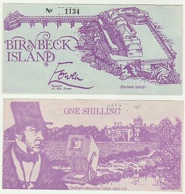 England - Birnbeck Island 1 Shilling 1970s UNC Local Currency Banknote