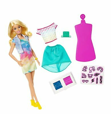 Barbie FRP05 Crayola Colour Stamp Fashion Sets, Doll and Design Materials