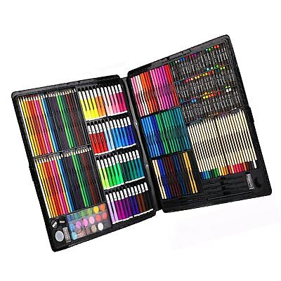 258 Piecs Inspiration Art Set for Drawing and Sketching Color Pen Crayons Cas...