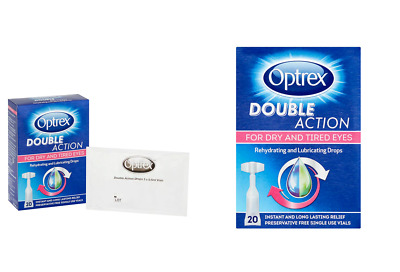 Optrex Monodose Double Action Dry and Tired Rehydrating & Lubricating drops x 20