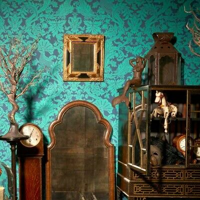Cole And Son Balabina 108/1005 Mariinsky Damask Wallpaper x2 Teal