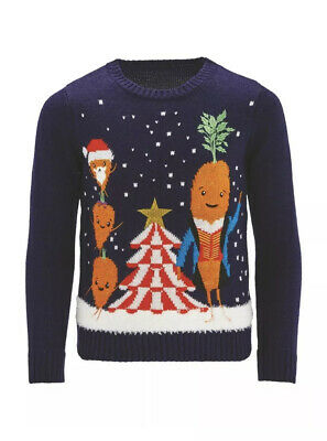 New Lily & Dan Kevin the Carrot Family Kids Unisex Christmas Jumper 11-12 years