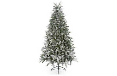 5ft Premier Snow Flocked Lapland Spruce Christmas Tree PE PVC Mixed p48