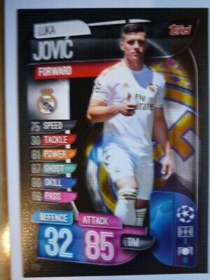 Topps Match Attax 2019/20 Real Madrid Jovic Card Comb P&P
