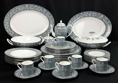 Wedgwood Moselle Grey Dinner & Coffee Service - Sold Individually - Vintage VGC
