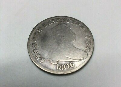 1806 Draped Bust Half Dollar 50c Pointed 6 w/ Stems Very Nice Coin You Grade