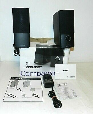 Bose Companion 2 Series III Multimedia Computer Speaker System Tested & Working