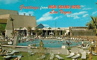 Vintage Postcard Of Greetings  From MGM Grand, Las  Vegas, Nevada Years Ago
