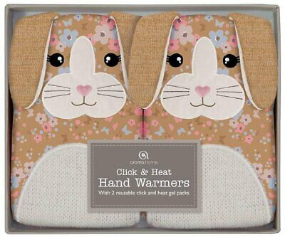 Click and Heat Luxury Knitted Bunny Hand Warmers