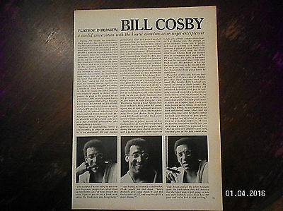 Playboy  Interview Bill Cosby From 1960'S Magazine.comedian-Actor-Singer