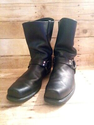 Double H Mens Black Harness Motorcycle Square Toe Boots 15EE