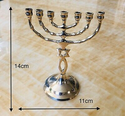 Jewish Candle stick menorah - SEVEN CANDLES STAR OF DAVID