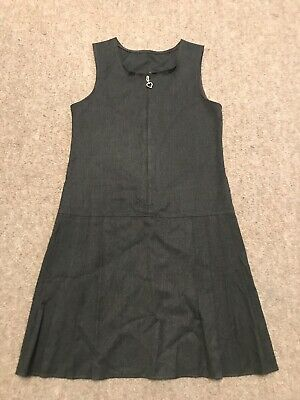 Girls 9-10 Years Grey School Pinafore From George In Great Condition