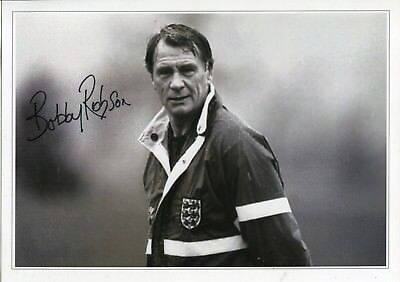 Former England & Newcastle manager Sir Bobby Robson signed photo UACC DEALER