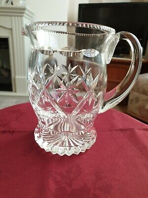 "Stuart Crystal Water Pitcher 7.2"" -Unstamped"