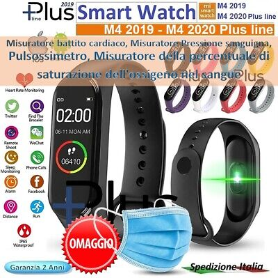 ⭐SMART WATCH M4 Plus 2020 + screen Bluetooth Orologio per Android / ios Battito⭐