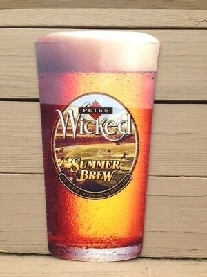 PETE'S Wicked Summer Brew Ale advertising beer lucite sign bar tavern