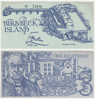 England Birnbeck Island 1/2d 1 Halfpenny 1970s AU-UNC Local Currency Banknote