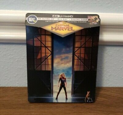 Captain Marvel 4K UHD Blu-ray + Digital Code Steelbook NEW SEALED