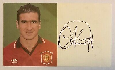 Eric Cantona 1994/96 Signed (Stamped) Manchester United Official Club Card