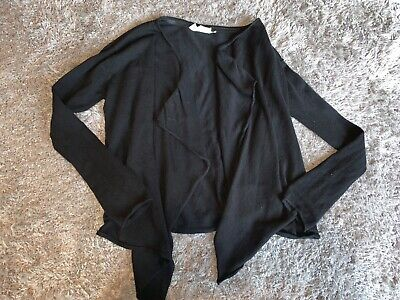 Girls Clothes tammy black cardigan age 10-11 years
