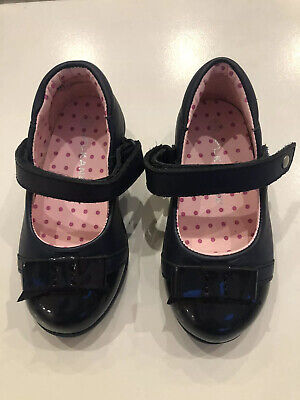 BNIB Baby Girls Real Leather Navy Kangol Smart Occasion Shoes Infant Size 6