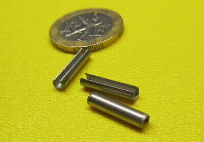 18-8 Stainless Steel Slotted Metric Spring Pin M3 Dia x 14 mm Length, 100 pcs