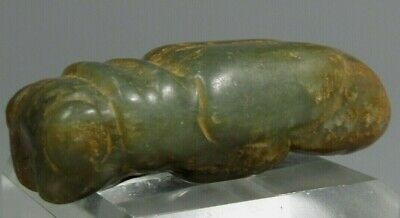 Rare China Chinese Green Russet Jade Carved Cicada Form Amulet Pendant Decor