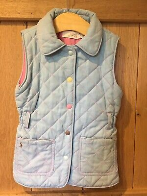 Girls Joules Powder Blue sleeveless gilet age 5 years excellent condition 💕