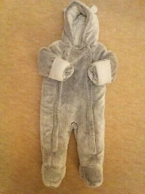 Gorgeous Cute Faux Fur Baby Pramsuit Jacket Coat all in one 6-9 months George