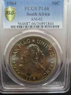 1964 South African Proof Silver Crown Coin - Psgs Pl66