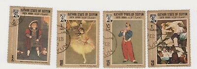 (K188-99) 1967 KATHRI state mix of 4stamps paintings (CX)