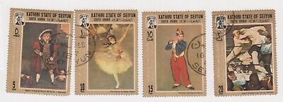 (K188-97) 1967 KATHRI state mix of 4stamps paintings (CV)